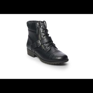 Black Hackberry Women's Ankle Combat Boot